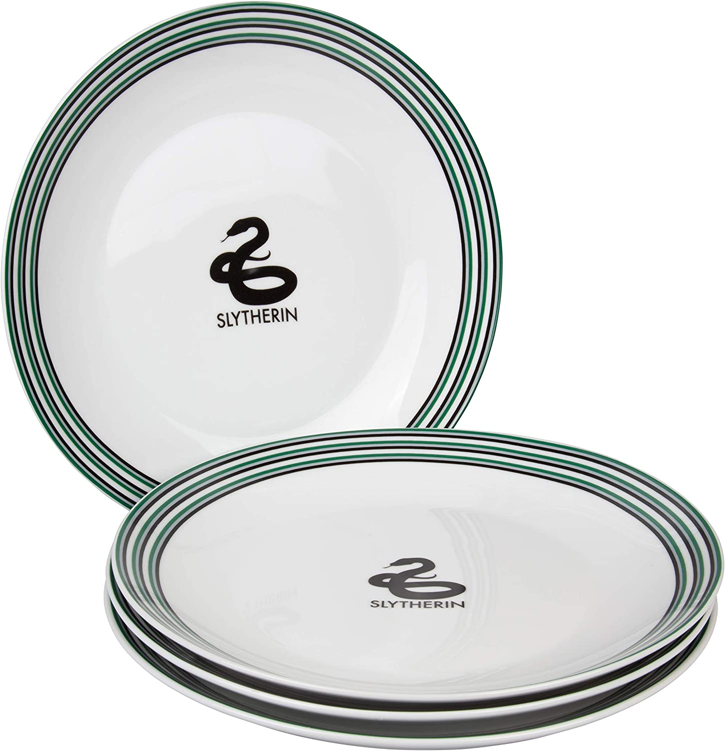 Ravenclaw and Slytherin 4 Bowls and 4 Mugs Harry Potter Hogwarts House Porcelain 16 piece Dinnerware Set Hufflepuff Includes 4 Dinner Plates Gryffindor 4 Salad Plates