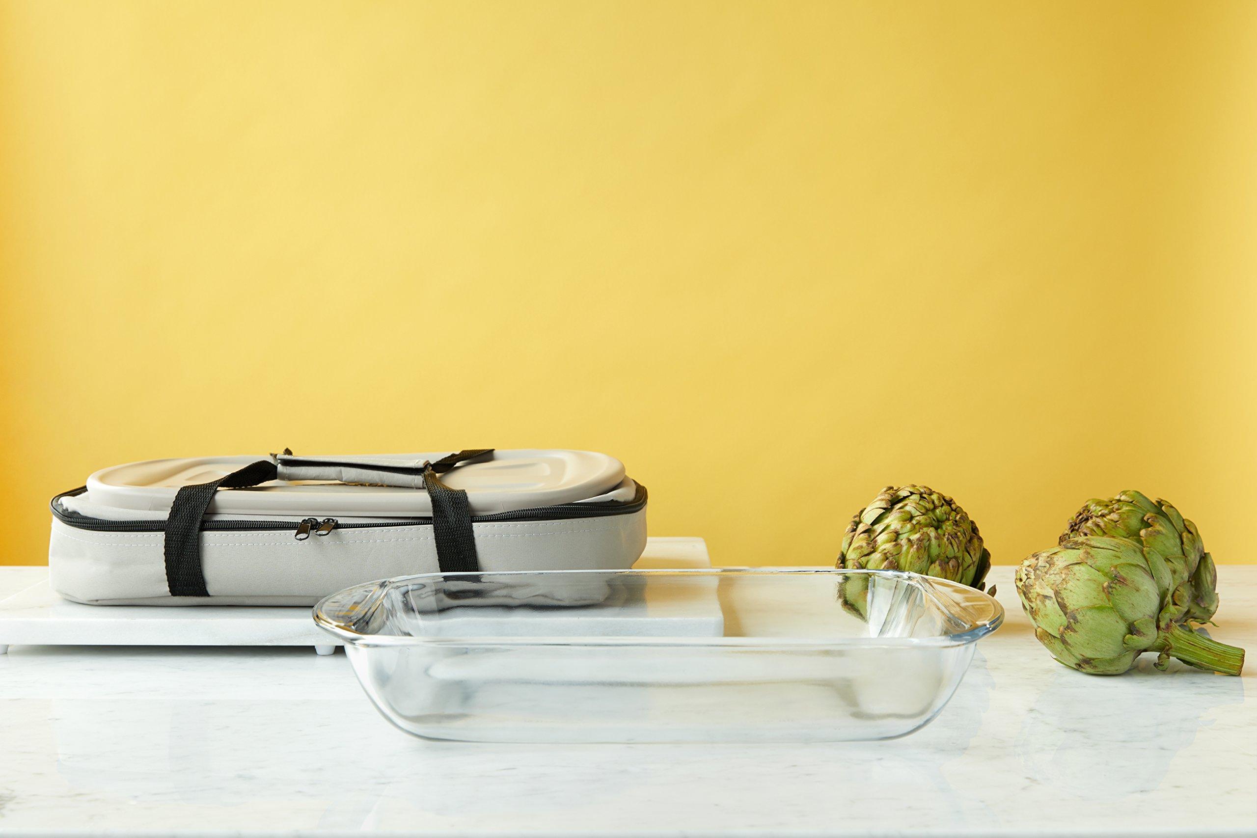 Anchor Hocking Oven Basics 4Piece Bake-N-Take Bakeware Set, Pepper Gray by Anchor Hocking (Image #6)