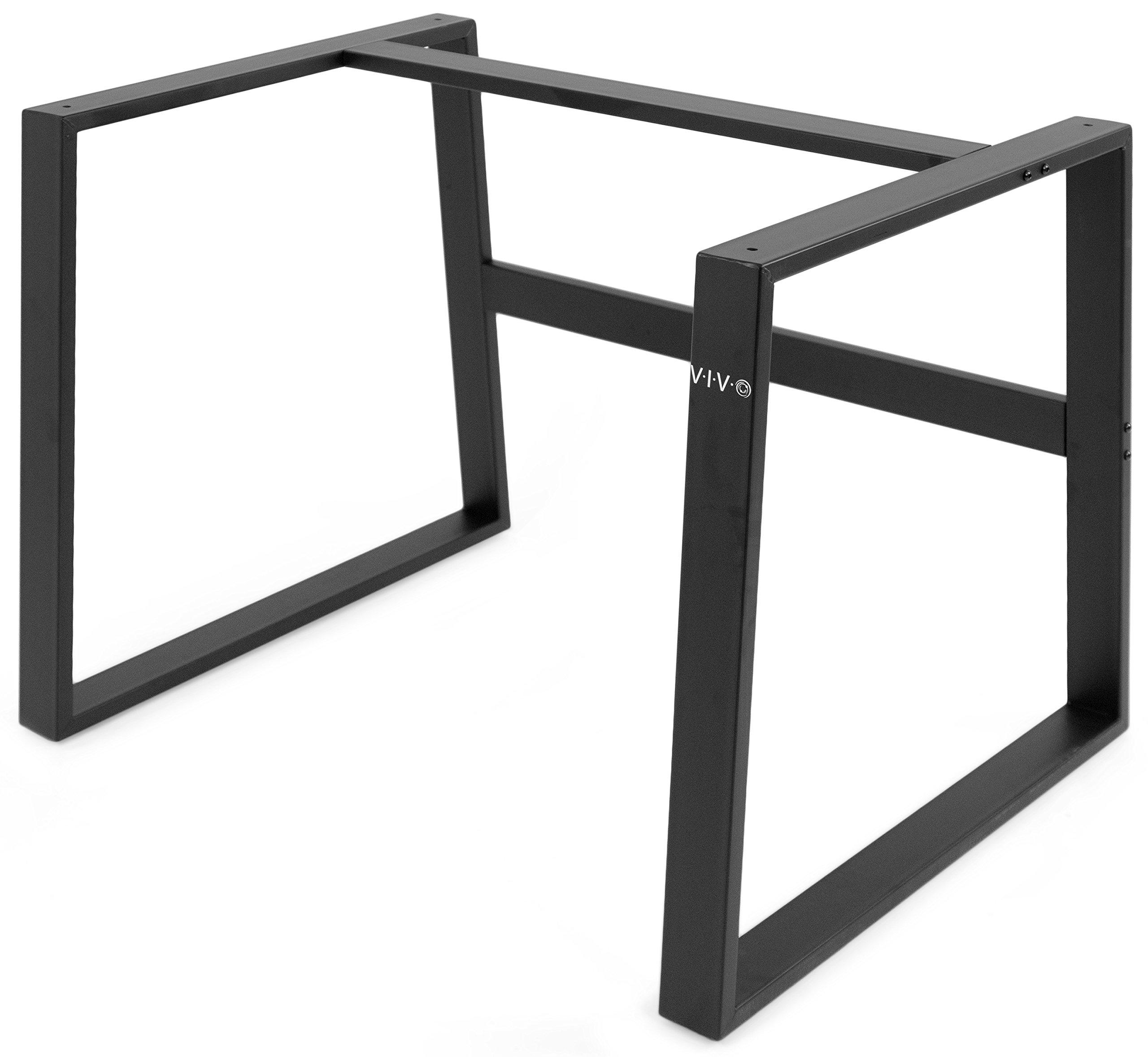 VIVO Black Heavy-Duty Desktop Monitor Riser Frame | Desk Base Legs for Height Adjustable Sit to Stand Tabletop Workstation Converter (DESK-LEGS7)