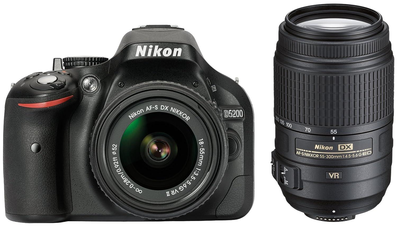 Nikon D5200 + AF-S DX 18-55 VR II + 55-300 VR: Amazon.es: Electrónica