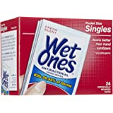 Singles Anti bacterial Hands & Face Moist Wipes, 24 ct, Fresh