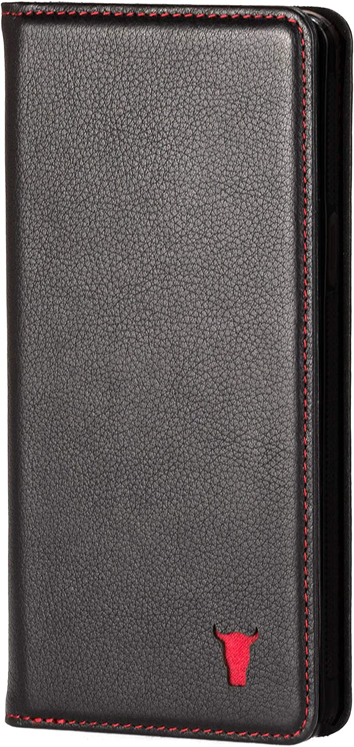 TORRO Cell Phone Case Compatible with Apple iPhone SE (2020) and iPhone 8/7 Genuine Quality Leather Flip Cover with [Card Slot] [Horizontal Viewing Stand] [Durable Frame] 4.7 Inch (Black)