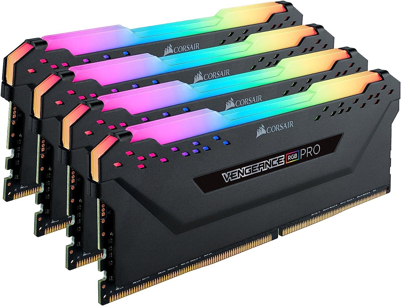 C18 Desktop Memory DDR4 3600 Black PC4-28800 4x16GB Corsair Vengeance RGB PRO 64GB