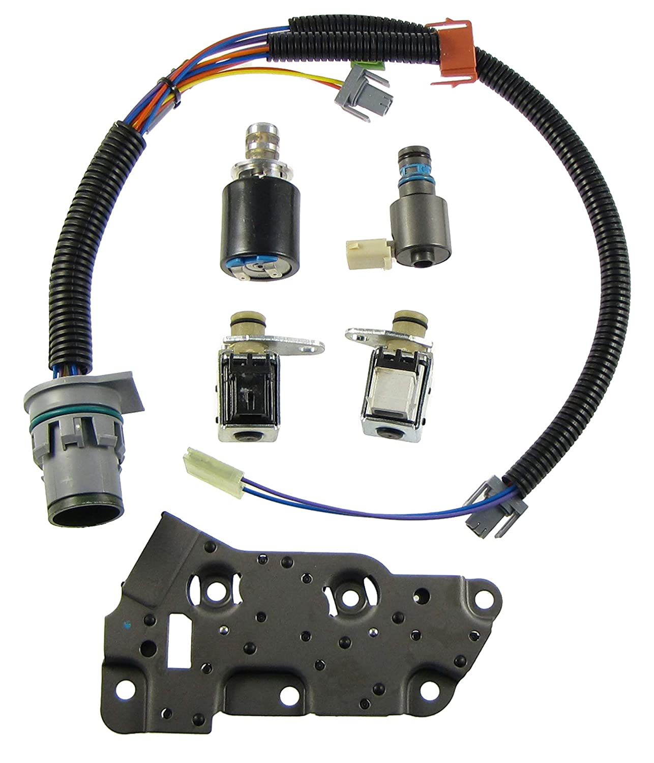 Amazon com: Solenoid Kit 4L80E 85E Shift Solenoids EPC TCC