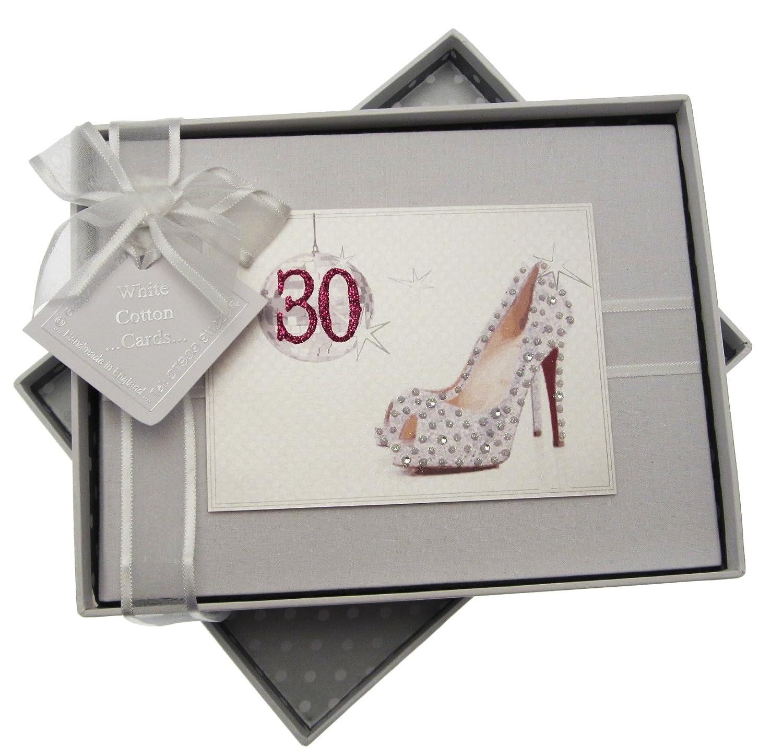White Cotton Cards Fotoalbum für 30. Geburtstag GB30S