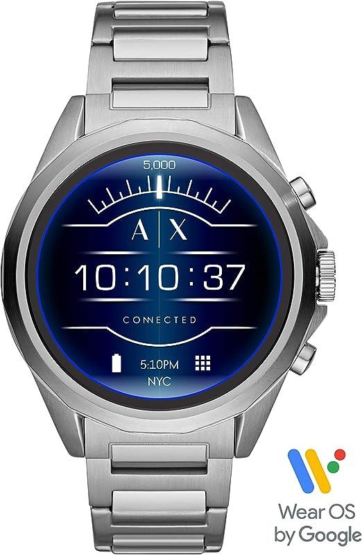 Armani Exchange Smartwatch Pantalla táctil para Hombre de Connected con Correa en Acero Inoxidable