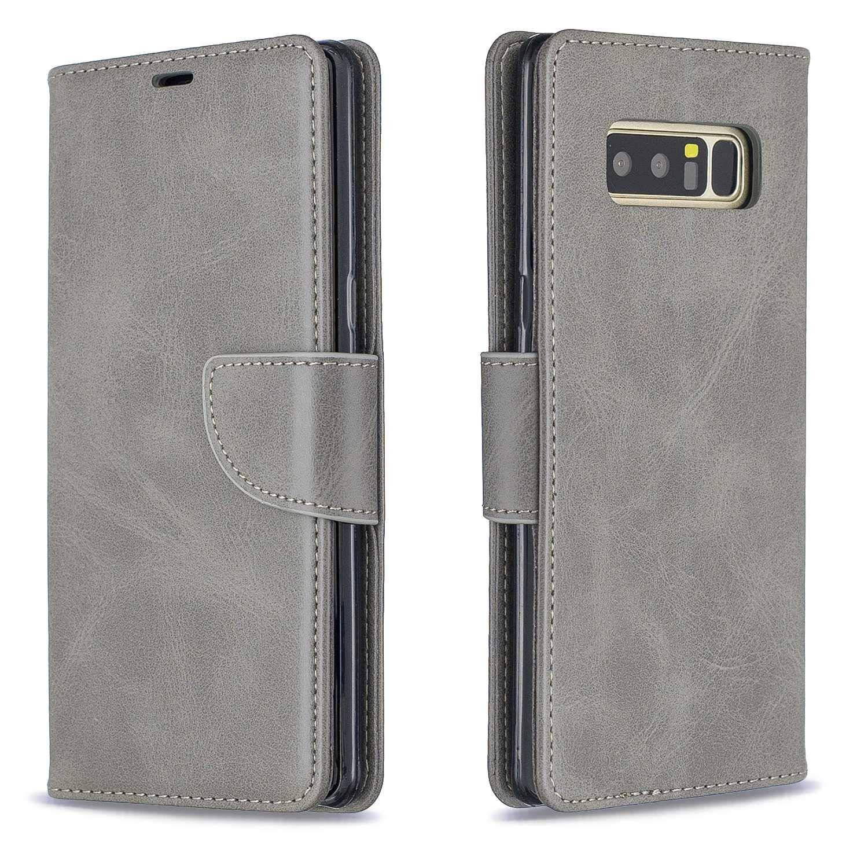 Bear Village/® Cover per Samsung Galaxy Note 8 Premium Portafoglio Protettiva Cover con Cinturino da Polso Flip Custodia in Pelle Blu