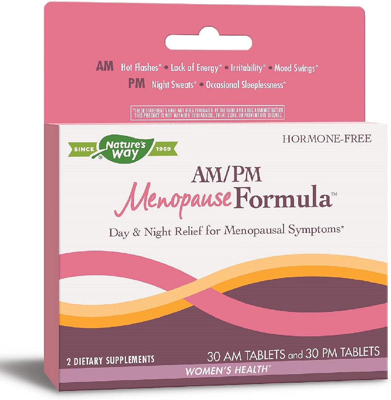 Nature's Way AM/PM Menopause Hormone-Free Formula Daytime Energy & Restful Sleep (60 Count)