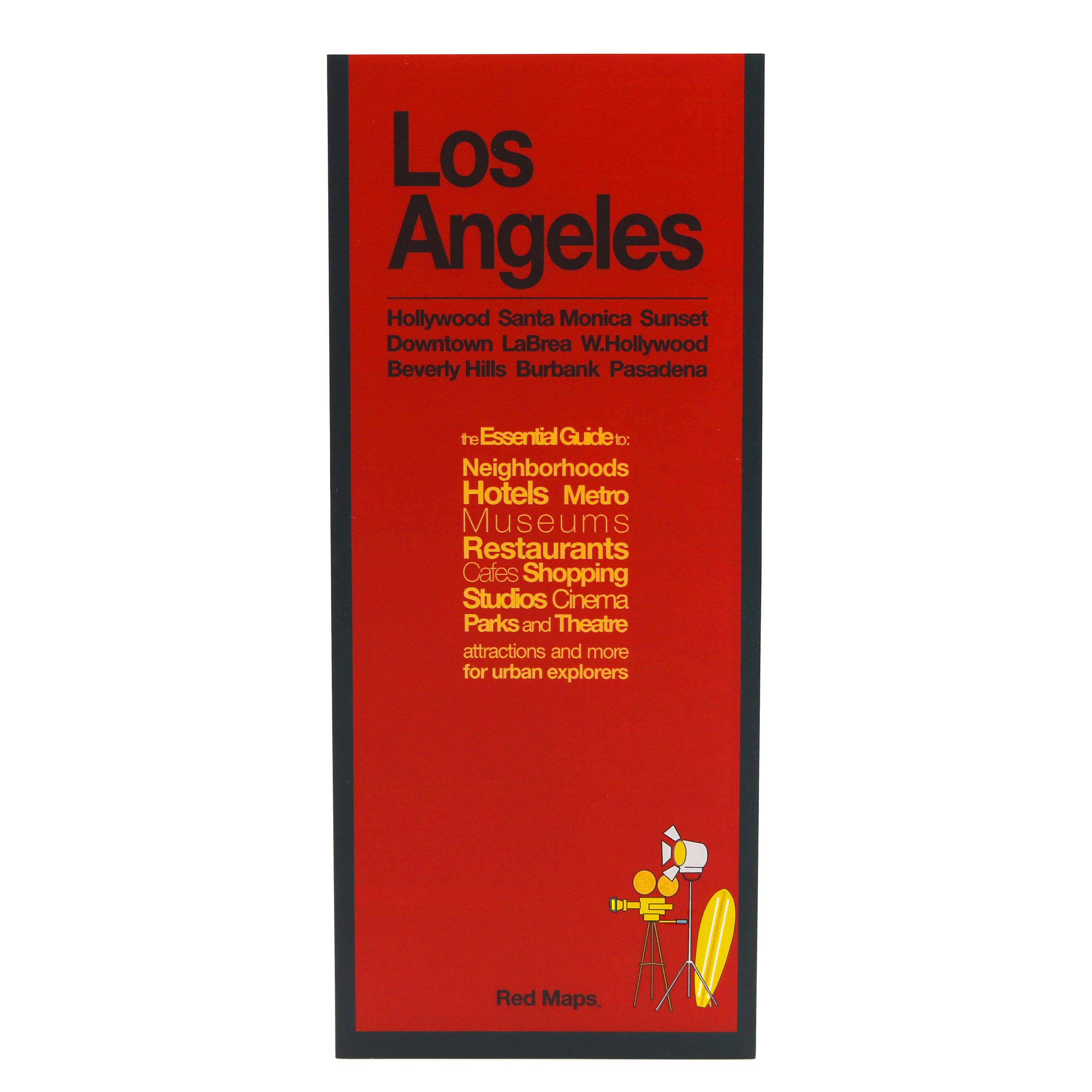 Silverlake Los Angeles Map.Red Maps Los Angeles Street Map And City Guide Red Maps