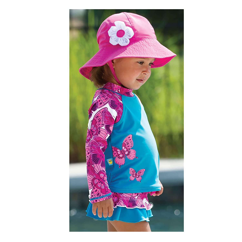 Toddler Size 2T Sun Smarties Rainbow Pink Long Sleeve Rash Guard