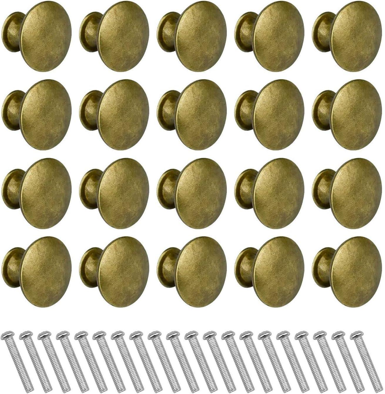 SANTOO de 20 piezas Pomos de puerta, tiradores de muebles de latón vintage, tiradores de muebles para tocador y gabinete