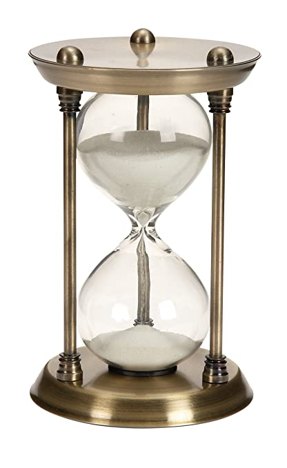 Antiques Vintage Antique Brass Finish Sand Timer Hourglass With Both Side Compass Comfortable Feel Maritime Compasses