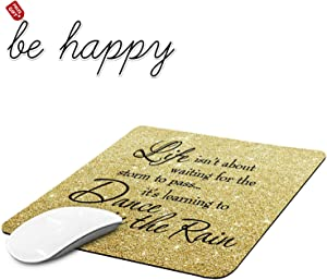 Gaming Mouse Pad, Golden Flash Bible Mouse Pads for Laptop Non-Slip Rubber Base Mousepad Computers and Office, Rectangle Cute Mouse Mats and Be Happy Computer Stickers