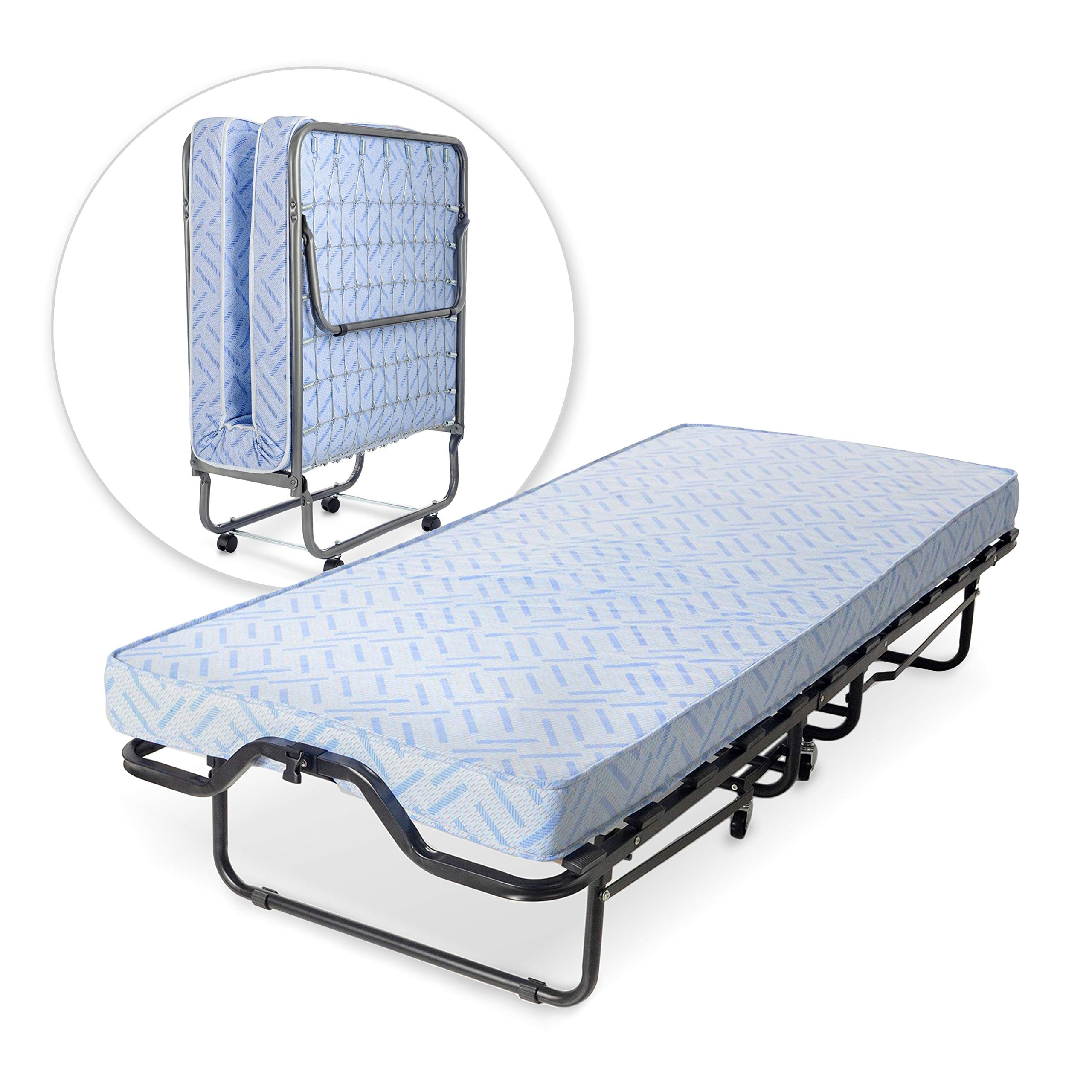 Milliard Lightweight Folding Bed with Mattress - Cot Size -74 by 31-Inches by Milliard