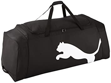 d671a594f57b4 PUMA Tasche Team Wheel Bag Sporttasche Black-White 124 x 50 x 43 cm ...