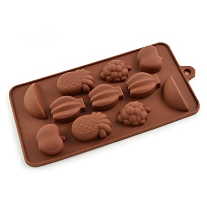 Frutas molde de silicona para pasta de azúcar, Chocolate, jabón, cubos de hielo