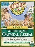Earth's Best Organic, Whole Grain Oatmeal Cereal, 8 Ounce