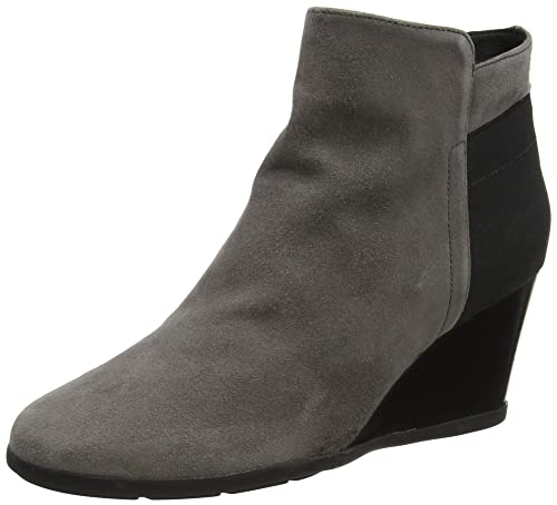 INSPIRATION Ladies Suede Ankle Boots Chestnut