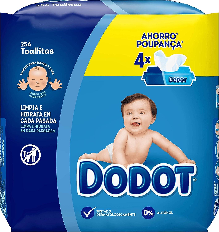 Dodot Toallitas Para Bebé 4 Paquetes, 256 Toallitas: Amazon.es: Salud y cuidado personal