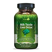 Irwin Naturals Milk Thistle Liver Detox with Dandelion, Artichoke, Turmeric & Green...