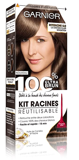 Coloration cheveux chatain clair garnier