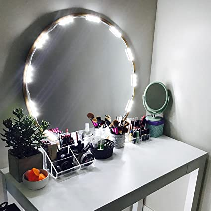 Amazon penson lighted mirror led light for cosmetic makeup penson lighted mirror led light for cosmetic makeup vanity mirror kit 20 led lights aloadofball Image collections