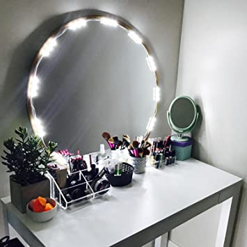 Amazon penson lighted mirror led light for cosmetic makeup penson lighted mirror led light for cosmetic makeup vanity mirror kit 20 led lights mozeypictures Gallery