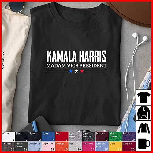 Amazon Com Kamala Harris Madam Vice President 2020 Joe Biden Vp 2020 T Shirt Tank Top Hoodie Long Sleeve Sweatshirt For Men Women Kids Handmade