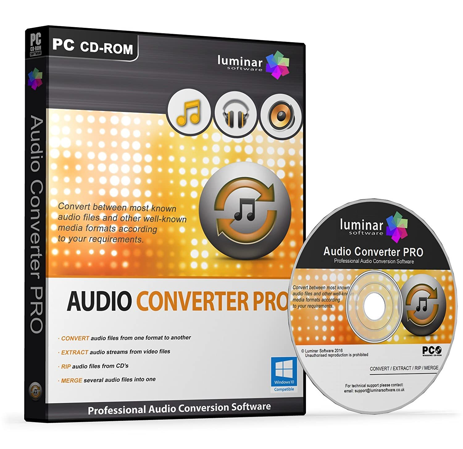 Audio Converter PRO - Professional Audio Conversion Software, Convert MP3,  WAV, WMA, AAC, AC3, OGG, DTS, FLAC, M4A and More (PC) - BOXED AS SHOWN