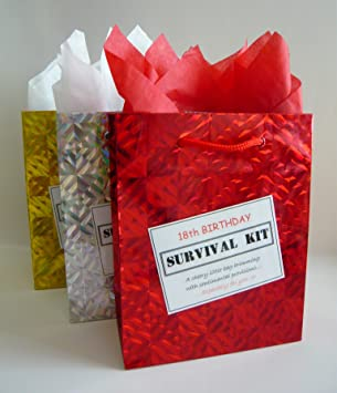 18th Birthday Survival Kit For Male Fun Gift Idea Novelty Present