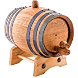 1 Liter American Oak Aging Whiskey Barrel | Handcrafted using American White Oak | Age your own Whiskey