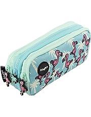 FRINGOO - Trousse à crayons avec 3compartiments jolie et amusante - Pour enfant Large Flamingo Paradise - 3 Compartments