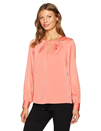 067e1b95a9a0b Amazon.com  Trina Turk Women s Maritsa Essential Silk Cutout Top ...