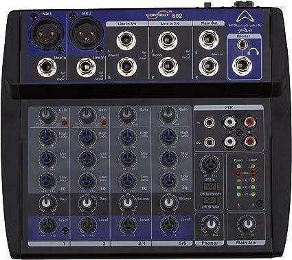 Wharfedale Pro Connect 802 Usb Mini Table De Mixage A Connexion