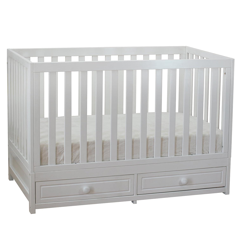 Amazon Athena AFG Marilyn 3 in 1 Convertible Crib White Baby