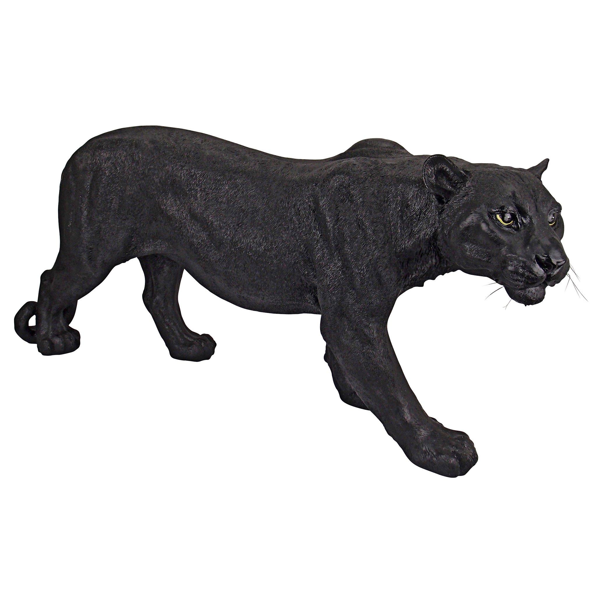 Design Toscano Shadowed Predator Black Panther Garden Statue, Large