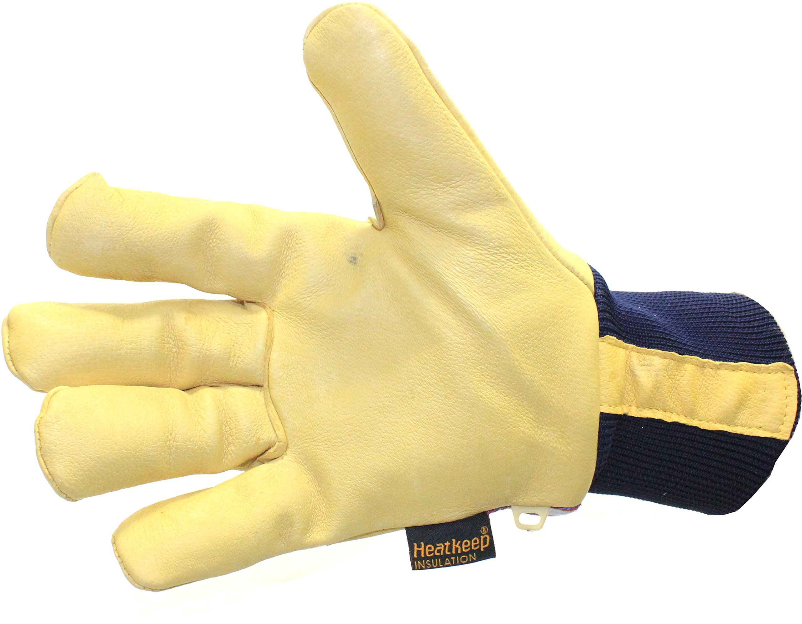 Kinco 1927KW Lined Grain Pigskin Leather Glove with Knit Wrist, Work, Large, Palomino (Pack of 6 Pairs) by KINCO INTERNATIONAL (Image #4)