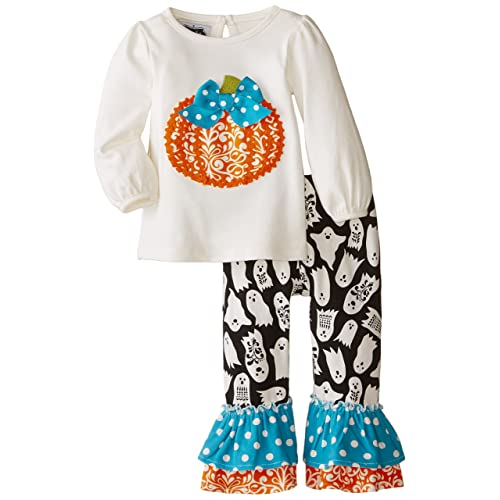 Mud Pie Baby Girls Pumpkin Pant Set