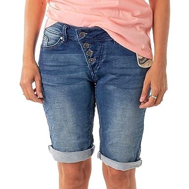 bd39dde5028202 Buena Vista Damen Jeans Malibu Krempel Shorts Bermuda Hose Capri Joggpants  Sweat Denim (L