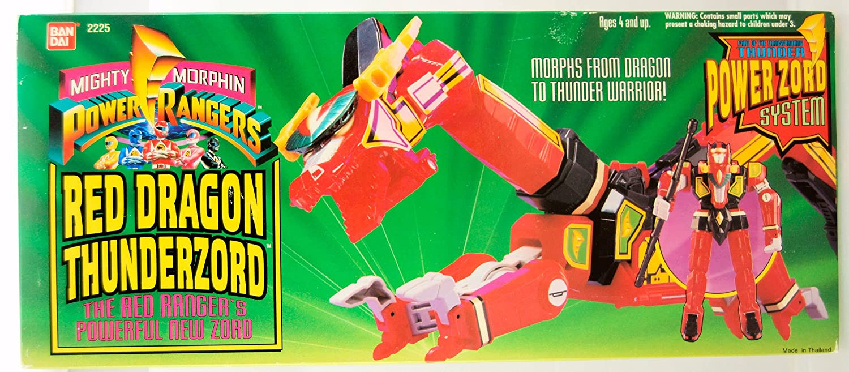 Vintage 1994 Mighty Morphin Power Rangers Red Dragon Thunderzord Bandai