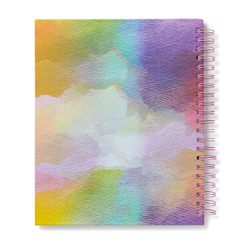 Taccuino a Spirale 20x30x2.5cm MAXI Quaderno Spiralato con Fogli Bianchi e Copertina Rigida Decorata Perfetto per lo Disegnare Tri-Coastal Design Sketchpad rainbow