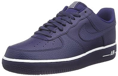 best service fd0db 1eca5 Nike Herren AIR Force 1 '07 Sneaker, Blau (ROYAL Blue), 47.5 EU ...