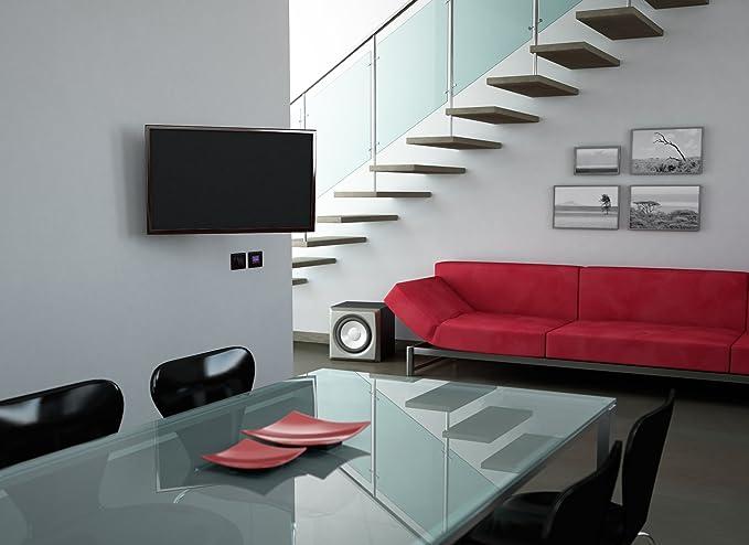 VESA Supporto TV CME EDR 100 con doppio braccio vert. max 15/°,orizz. max 90/° Nero Made in Italy 100/% inclinabile Ideale per Tv a Schermo Piatto fino a max 25/'/' |50x50|75x75|100x100| mm