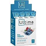 Ultima Replenisher Electrolyte Hydration Powder, Blue Raspberry, 20 Stickpacks - Sugar Free, 0 Calories, 0 Carbs…