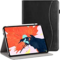 Ztotop Case for iPad Pro 11 Inch 2018,Premium Leather Folio Stand Business Cover,Support 2nd Gen Apple Pencil Wireless Charging and Auto Wake/Sleep,Pocket,Multi-angle,Black