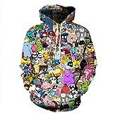 Sumaida Unisex Adult Realistic 3D Printed Hoodie Pullover Hooded Sweatshirt