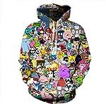 NEWCOSPLAY Unisex Realistic 3D Digital Print Pullover Hoodie Hooded Sweatshirt Lightning