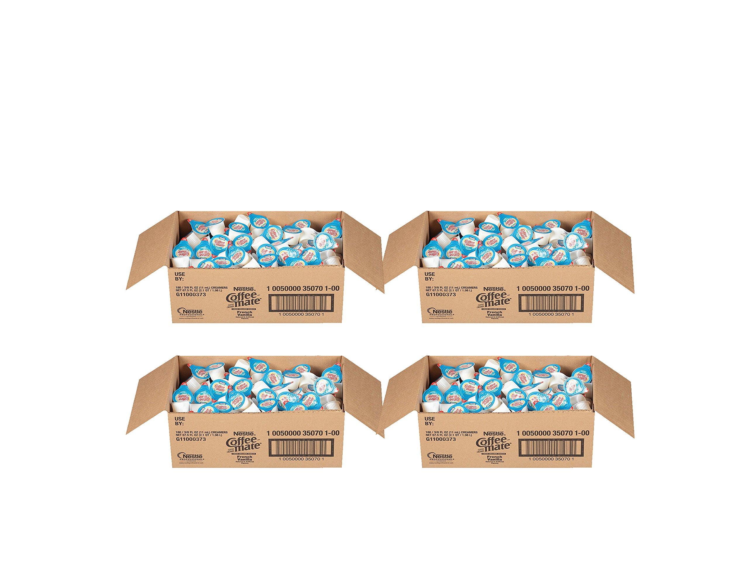 NESTLE COFFEE-MATE Coffee Creamer, French Vanilla, liquid creamer singles, Pack of 720