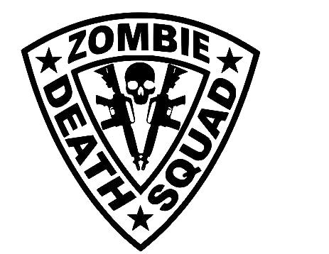 Zombie death squad vinyl sticker decal black 6
