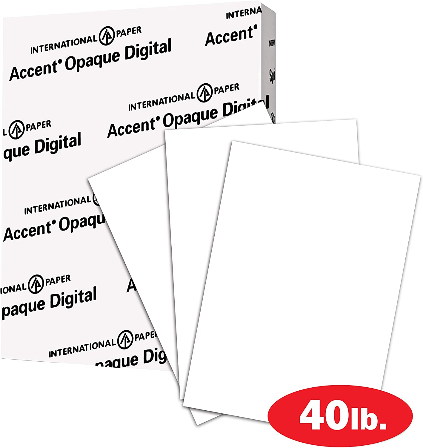 Accent Opaque Printer Paper, White Paper, 40lb Copy Paper, 11x17 Paper, 1 Ream / 250 Sheets - Smooth Finish (188081R)